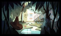 Backgrounds that I painted for Episode 7 'Sleep Spells' on Star vs the Forces of Evil. Collaboration work with matthewthiebes! :)