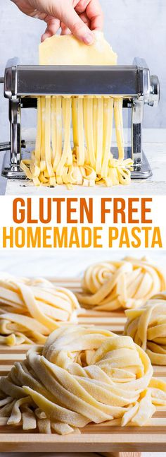 Homemade Gluten Free Pasta {gluten, dairy, nut, soy & refined sugar free} - A simple and reliable homemade gluten free pasta recipe. Once you've tasted this gluten free pasta from scratch, you'll never go back to the store-bought Gluten Free Recipes For Dinner, Gluten Free Pizza, Foods With Gluten, Gluten Free Cooking, Gluten Free Desserts, Dairy Free Recipes, Dinner Recipes, Gluten Free Homemade Pasta, Gluten Free Lunches