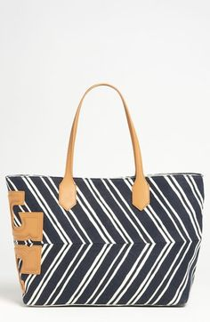 Ugh its beauitful!! Tory Burch 'Stacked T' Canvas Tote available at #Nordstrom