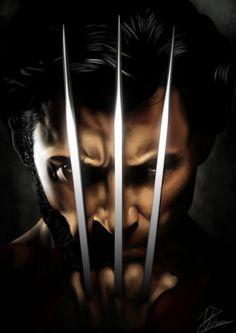 Wolverine painting.