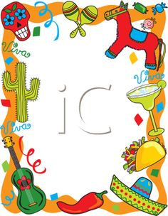 iCLIPART - Royalty Free Clipart Image of a Mexican Themed Border
