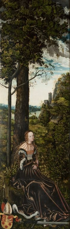 Saint Catherine // around 1515 // Lucas Cranach the Elder & Workshop //  Archdiocesan Museum Olomouc