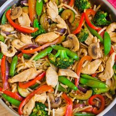 Teriyaki Chicken Stir-Fry The BEST chicken stir-fry ever, with home-made teriyaki sauce, loads of veggies and an option to add noodles! Easy and delicious dinner recipe idea! Teriyaki Stir Fry, Chicken Teriyaki Rezept, Teriyaki Sauce, Teriyaki Chicken Noodles, Teriyaki Chicken Casserole, Easy Chicken Stir Fry, Easy Chicken Dinner Recipes, Easy Delicious Dinner Recipes, Chicken Stir Fry With Noodles