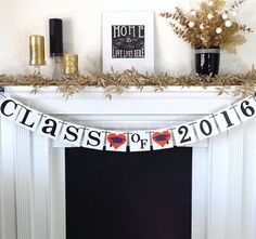 Items similar to CLASS of 2019 Banner / Graduation Banner / Party Decor / Graduation / Graduate / Senior Class Photo / College High School on Etsy Fancy Letters, Letters And Numbers, Graduation Banner, Graduation Caps, Graduation Ideas, Hard Pressed, Class Of 2016, Grad Cap, Name Banners