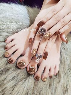 Most current No Cost Toe Nail Art with gems Thoughts Typically as soon as we fee. - Most current No Cost Toe Nail Art with gems Thoughts Typically as soon as we feel connected with le - Pedicure Nail Art, Toe Nail Art, Gel Manicure, Acrylic Nails, Gorgeous Nails, Pretty Nails, Wedding Manicure, Polish Wedding, Cute Toe Nails