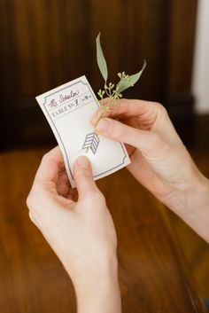 DIY Botanical Escort Cards // Design by Lily Red Studio // Photography by Sarah Postma