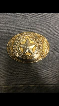 1945b931ac3 Tony Lama Solid Brass And Gold Plated Texas Belt Buckle  fashion  clothing   shoes