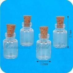 4 Bocaux en verre - DM159 1/12ème #maisondepoupées #dollhouse #bocaux #jars #meuble #furniture #miniatures #miniature #verre #glass