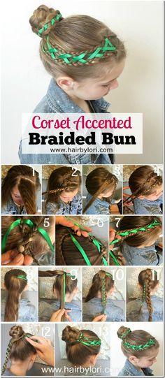 Corset Accented Braided Bun Tutorial - beautiful ballet bun