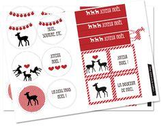 / / Étiquettes / / Printable / / Joyeux Noel / / Rennes / / Cœurs / / Rouge & Noir / / Boules de Noel / / Rond, Carré & Rectangle / /