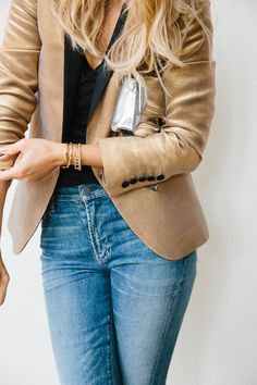 How to pull off subtle metallic pieces