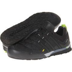 $120.00 adidas Outdoor Terrex Solo (Black/Black/Solar Slime) Men's Climbing Shoes