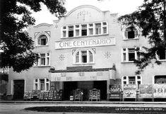 Años 20's Cine Centenario a un costado del Jardín o Plaza Centenario en Coyoacán. INAH. La Ciudad de México en el Tiempo   Flickr - Photo Sharing!