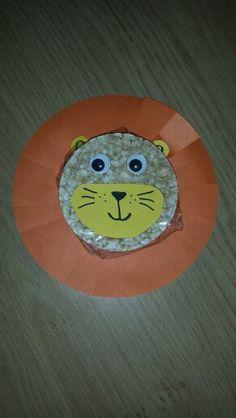 Gezonde traktatie, leeuw van rijstewafel