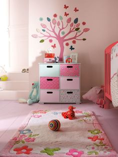flower rugs for girls room | Beautiful pink rug with flowers for the kids room