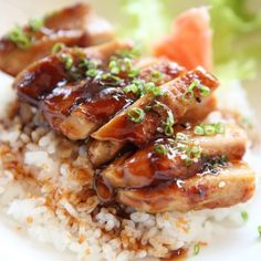 Baked Teriyaki Chicken - A much requested chicken recipe! Easy to double for a large group. Tonight's dinner - Nat even likes it Asian Recipes, Yummy Recipes, Great Recipes, Dinner Recipes, Cooking Recipes, Healthy Recipes, Favorite Recipes, Low Calorie Chicken Recipes, Bon Appetit