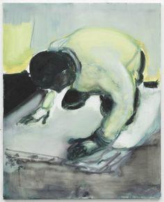 Marlene Dumas  @ David Zwirner. Living on your knees 2010.