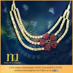Clothing is not everything….jewellery adds up to your beauty more....Visit Mukund Jewellers to complete your style statement.