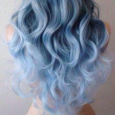 Mesmerizing blue hair