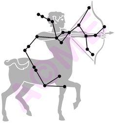 Sagittarius Star Constellation Tattoo