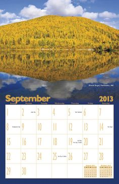 """3M Electronic Monitoring holds an employee photo contest each year. For the 2013 calendar, the theme was """"Elements —Earth, Air, Fire, Water."""" #promotional #calendar #photocontest www.yearbox.com"""