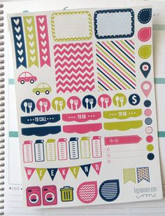 Parade Weekly Spread Planner Stickers for Erin by KGPlanner