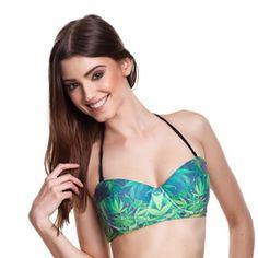Jane pushup halter bikini top