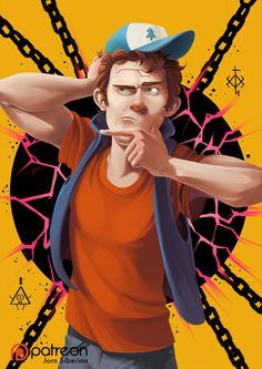 Dipper Pines Grown-up with timelapse video by Jorn-Siberian on DeviantArt