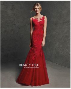 High Quality 2016 Zuhair Murad Bateau Neck Lace Evening Dresses Sleeveless See-through Appliques Prom Gowns Party Dresses Red BT178