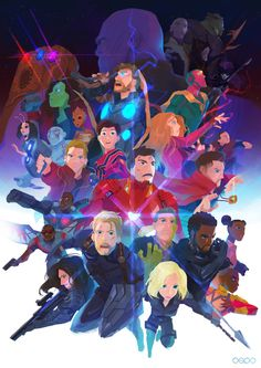 "Seoro O/OSRO on Twitter: ""★INFINITYY FRIENDS★ #infinitywar #AvengersInfinityWar #Avengers #FANART… """