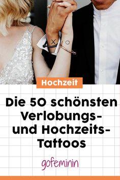 Die schönste Art JA zu sagen: 50 Verlobungs- und Hochzeitstattoos #tattoos #hochzeitstattoos #tattooshochzeit #paartattoos