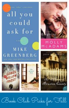 Got a Book Club? Check out our Book Clubs reads for Fall.