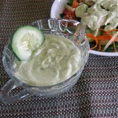 Avocado Ranch Salad Dressing  the same sauce Taco Bell uses on the soft steak taco, yum!