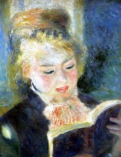 Pierre-Auguste Renoir - La liseuse, vers 1874.