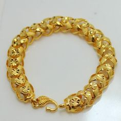 Gold Chain Men Fashion Buy New design Gold chain Bracelets from All fashionable bracelets best range of bracelets purchase to Diamond District Block Online Store in New York. Mens Gold Bracelets, Mens Silver Necklace, Gold Plated Bracelets, Gold Bangles, Sterling Silver Necklaces, Gold Jewelry, Chain Bracelets, Chain Jewelry, Jewellery