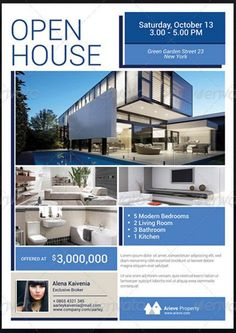 Sample Real Estate Flyer at Open House                              …