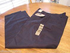 Men's Dockers W 34 L 34 navy pants $60 D3 classic fit refined khaki flat front