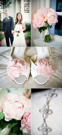 Gorgeous flowers.  Such a cute idea to put flowers on the shoes.  Wish I would have thought of that for my wedding!