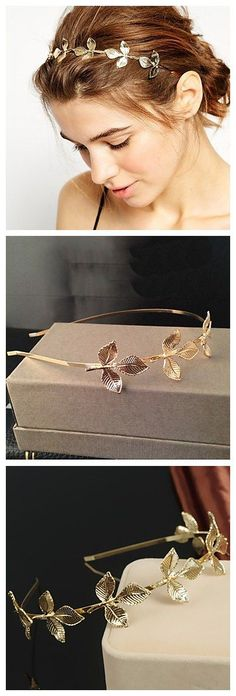 Vintage  leave design headpiece, use some of our lovely hair jewelries to style you up in your homecoming party!