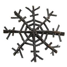 Shea's Wildflower Driftwood Snowflake Ornament found on Polyvore