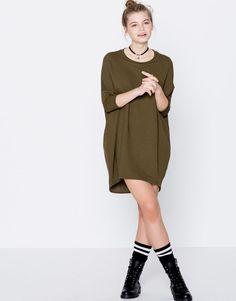 Vestido cocoon liso - Mini - Vestidos - Vestuário - Mulher - PULL&BEAR Portugal