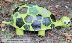 Paper Mache Turtle... her shell looks so much like Chrissie. I can't get over the cuteness! You are a genius Erica! #turtlecrafts #Chrissiesshell