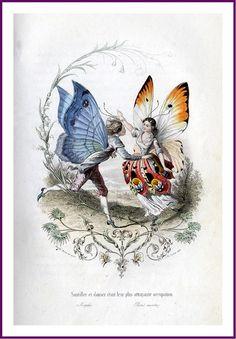 Pierre Amédée Varin (1818–1883) of the butterfly people from Les Papillons, métamorphoses terrestres des peuples de l'air (1862), a book by Eugène Nus and Antony Méray