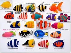 Any sorts of Handmade felt fabric Toys, Magnets, Ornaments and Crib mobiles. Fish Ornaments, Hanging Ornaments, Colorful Fish, Tropical Fish, Felt Fish, Cute Fish, Angel Fish, Little Doll, Felt Fabric