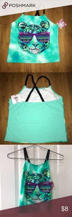 💙NWT Op girls swim top 💙Brand new with tag Op brand girls swim top. Originally bought as a 2 piece set from Walmart but only kept the bottoms. Super cute cross back straps and vibrant aqua color. Comment below any questions or measurement requests! 💜I ACCEPT OFFERS💜 Op Swim Bikinis