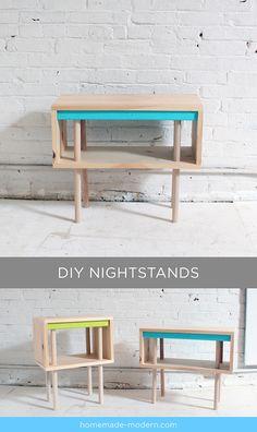 HomeMade Modern Book DIY Pine Nightstands