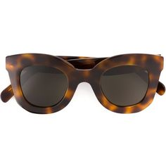Céline Cat Eye Sunglasses (€280) ❤ liked on Polyvore featuring accessories, eyewear, sunglasses, brown, cateye sunglasses, dark tinted sunglasses, studded sunglasses, cat eye sunglasses and celine sunglasses
