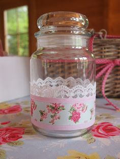Adventures of City Girl, Country Girl: Ta Da: Upcycled Yankee Candle Jar