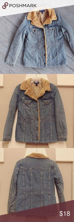 Limited Too Denim Coat Excellent Used Condition // A few loose threads and a couple of very minor picks in fabric // original Limited Too brand // 100% acrylic liner // Dearly love this jacket! So so cute!! [ NOT JUSTICE - preceding brand Limited Too] Justice Jackets & Coats Jean Jackets