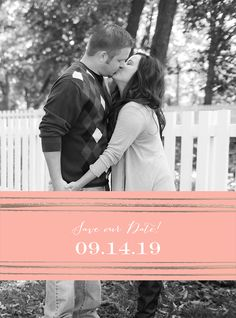 Gold Foil Stamped Save the Date. Simple, Sweet and Any Color!